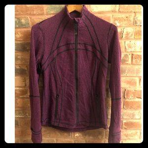 Lululemon Define Jacket in Purple Houndstooth